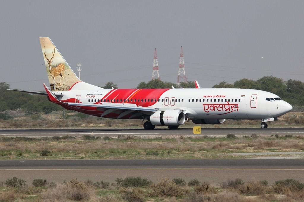 Air India Express betreibt eine sehr farbenfreudige Flotte aus Boeing 737-800.