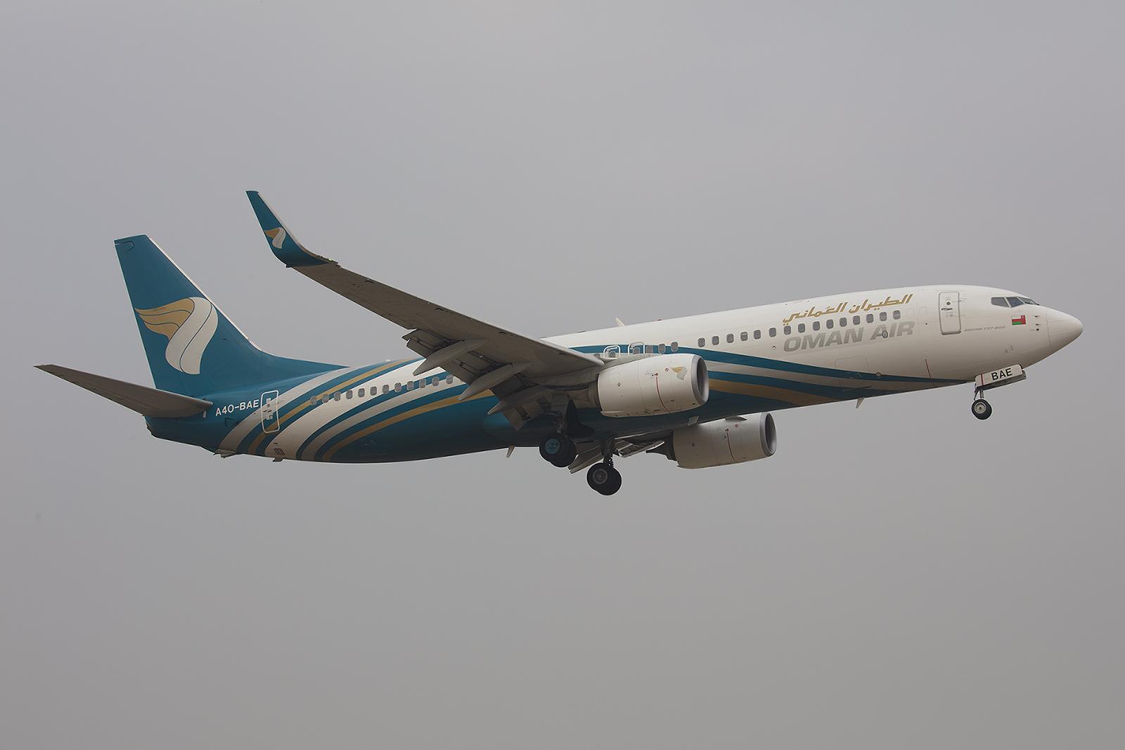 Aufgrund des weltweiten Groundings der Boeing 737MAX kam Oman Air mit einer -800.