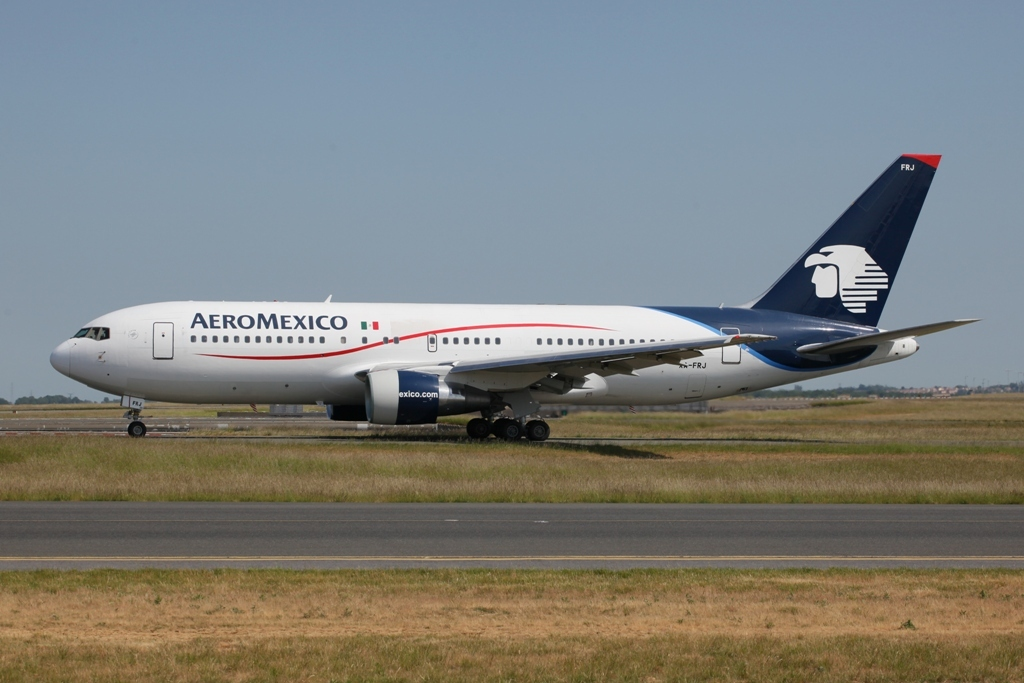 Die Aeromexico verbindet Mexico.City mit Paris.