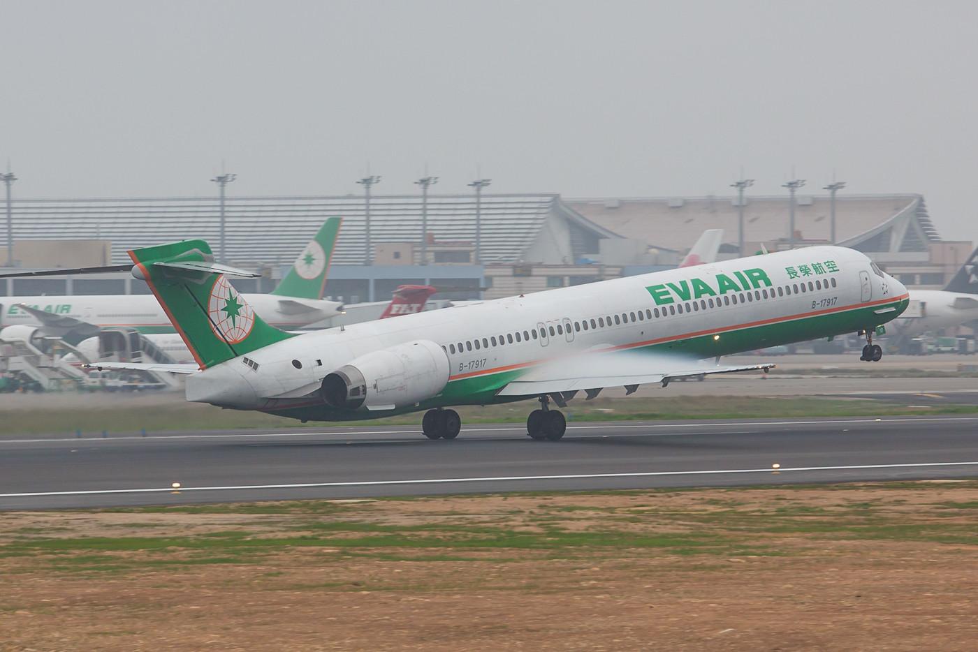 Nur noch wenige MD-90 sind bei Eva Airways und ihrer Tochter UNI Air im Einsatz.