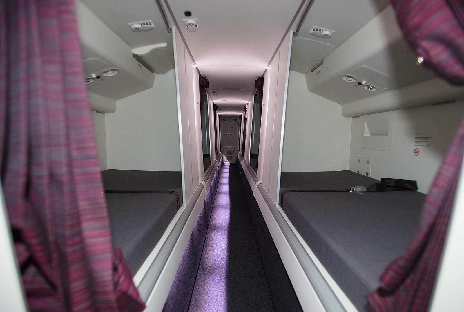 Der hintere Crew Rest Room der Boeing 777.