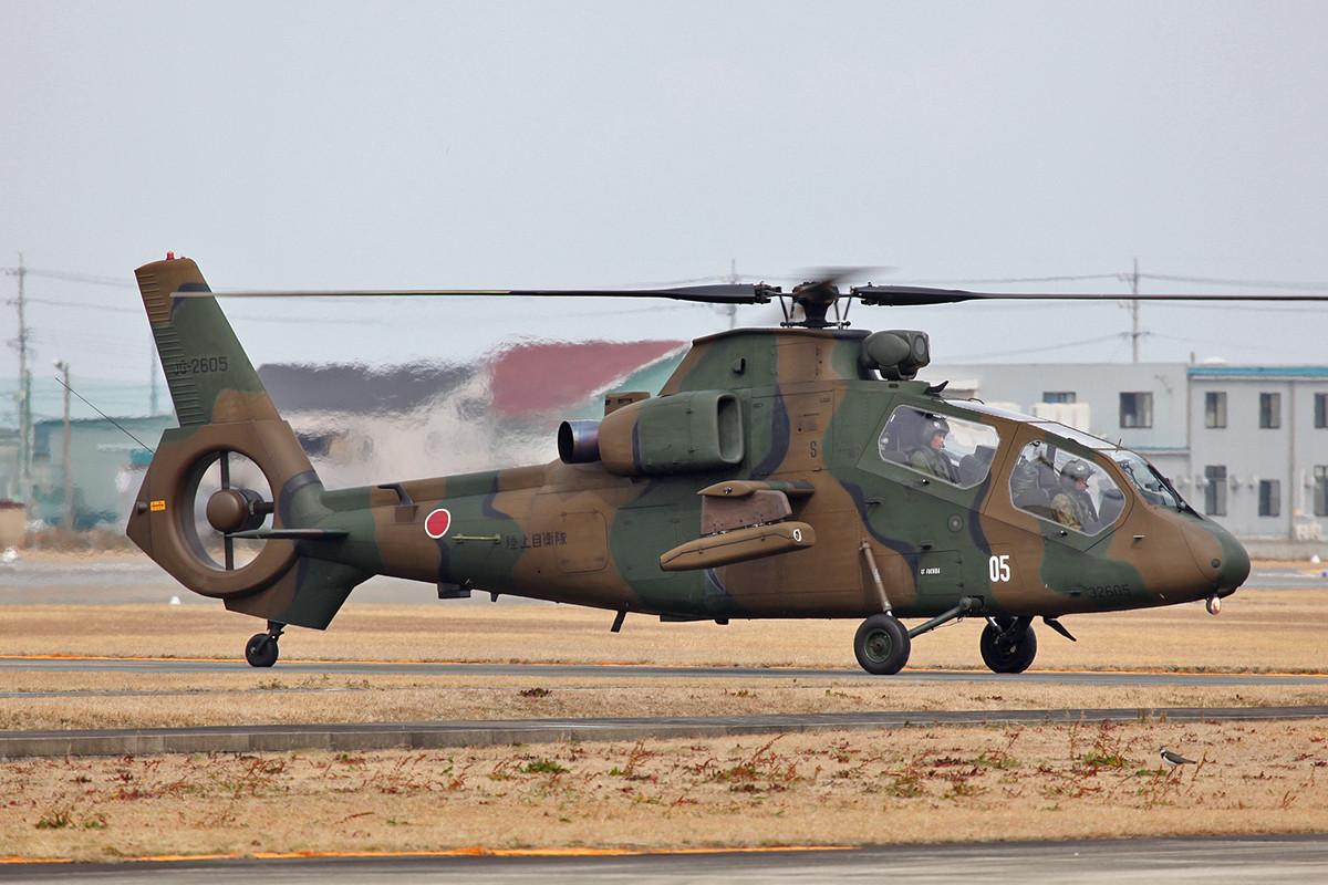 Japans Eigenentwicklung bei den bei den leichten Aufklärungshubschrabern, der OH-1.