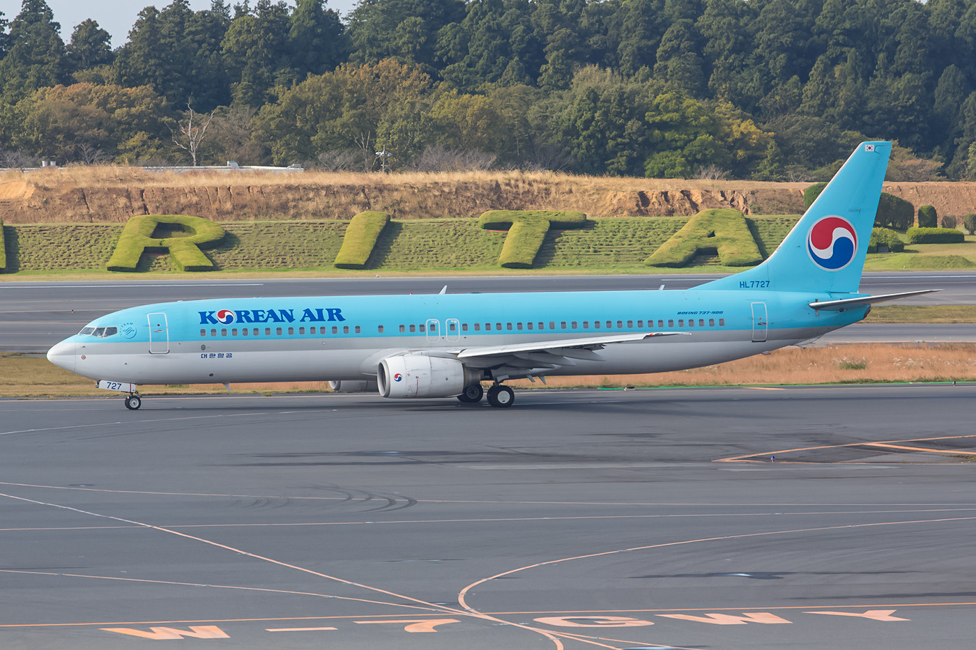 Korean Airlines betreibt nach Narita einen bunten Typenmix.