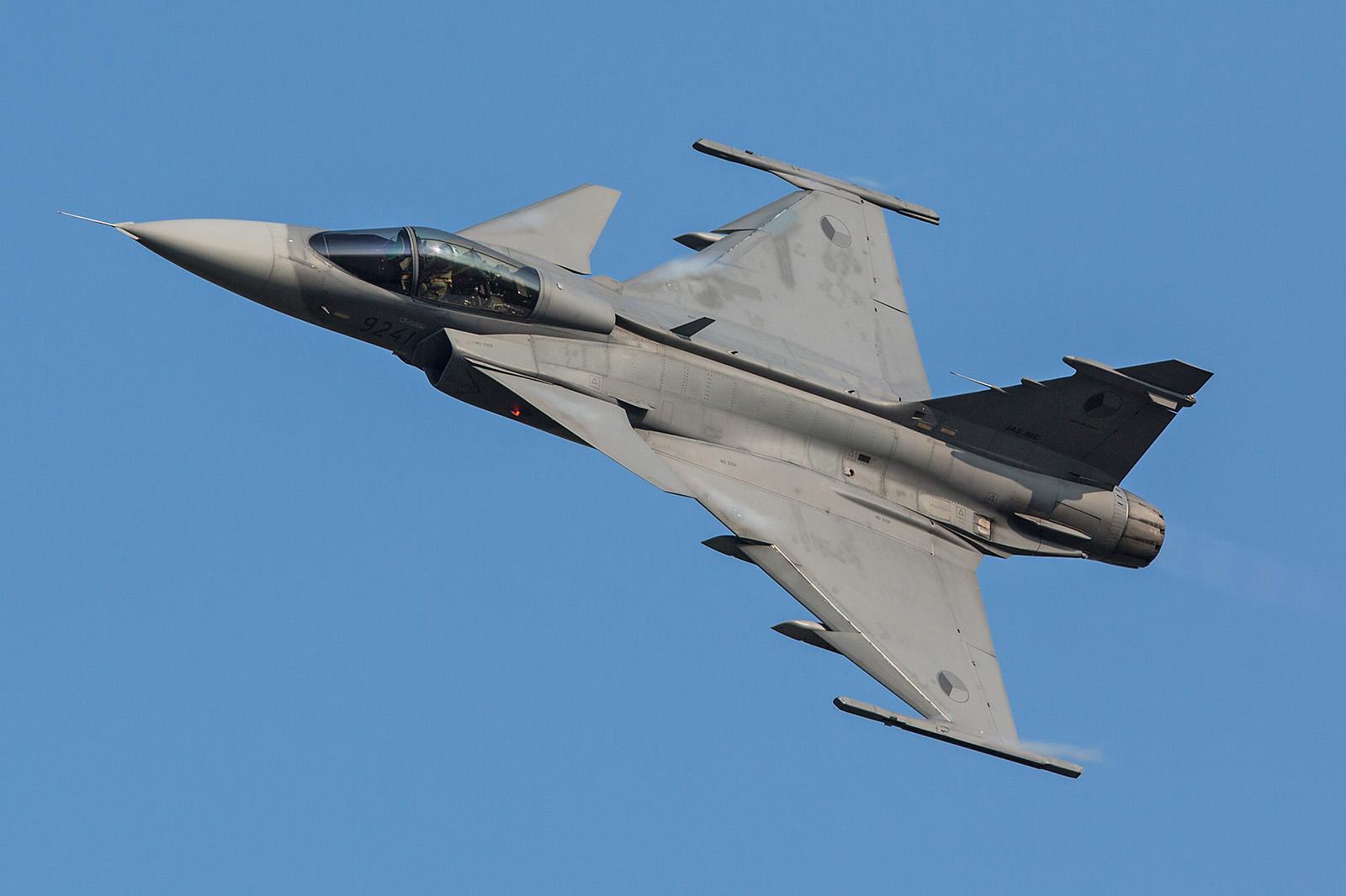 SAAB JAS-39 Gripen der eigenen Streitkräfte.