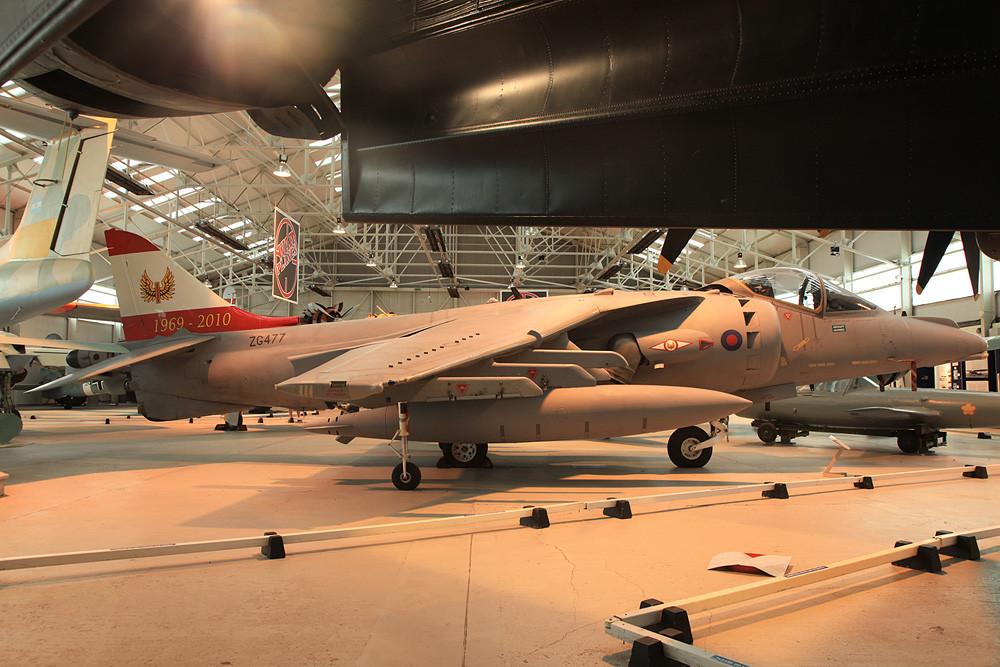 Harrier GR.9 aus RAF Cottesmore, eine der Abschiedslackierungen.