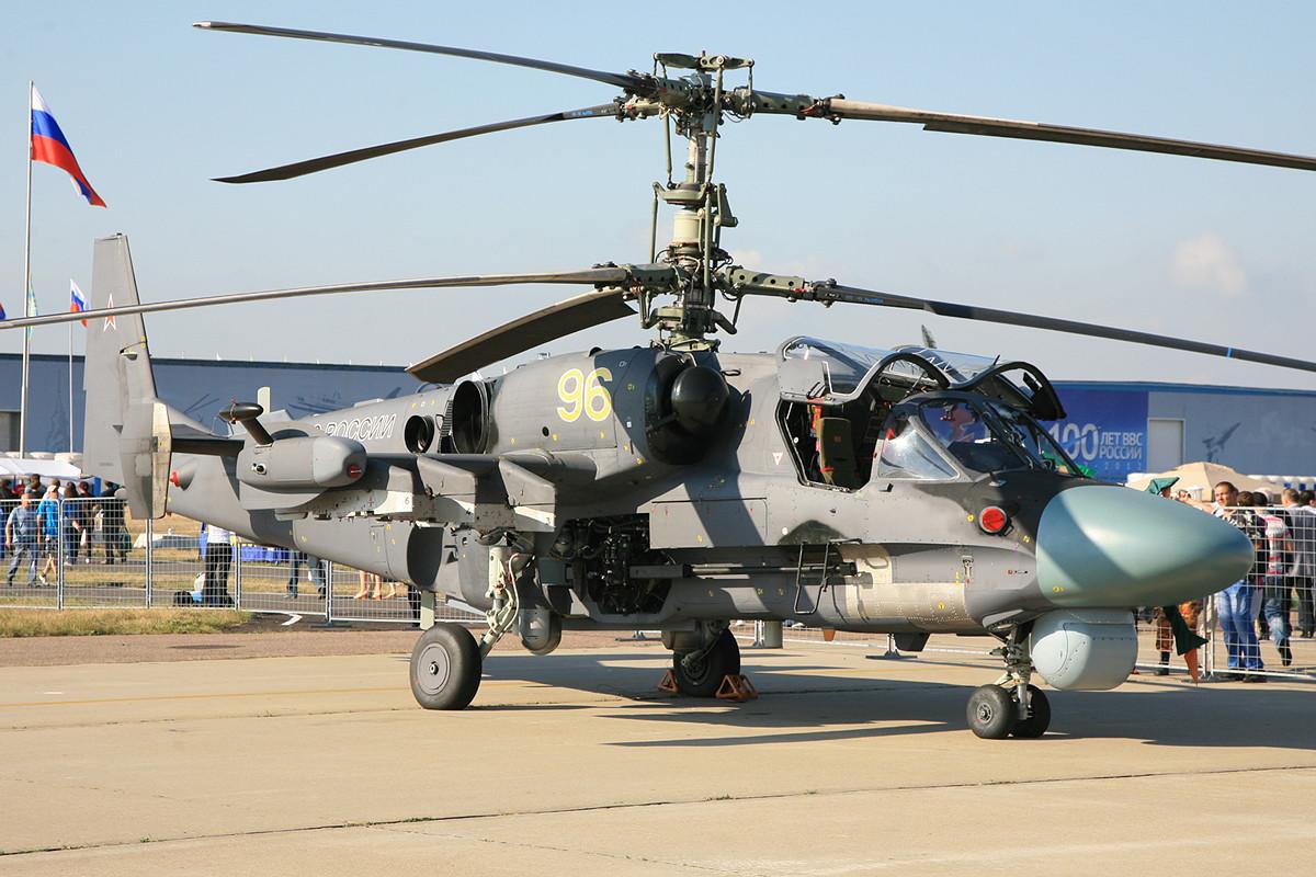 Nicht schön aber gepanzert wie eine Festung, der Kamov KA-52.