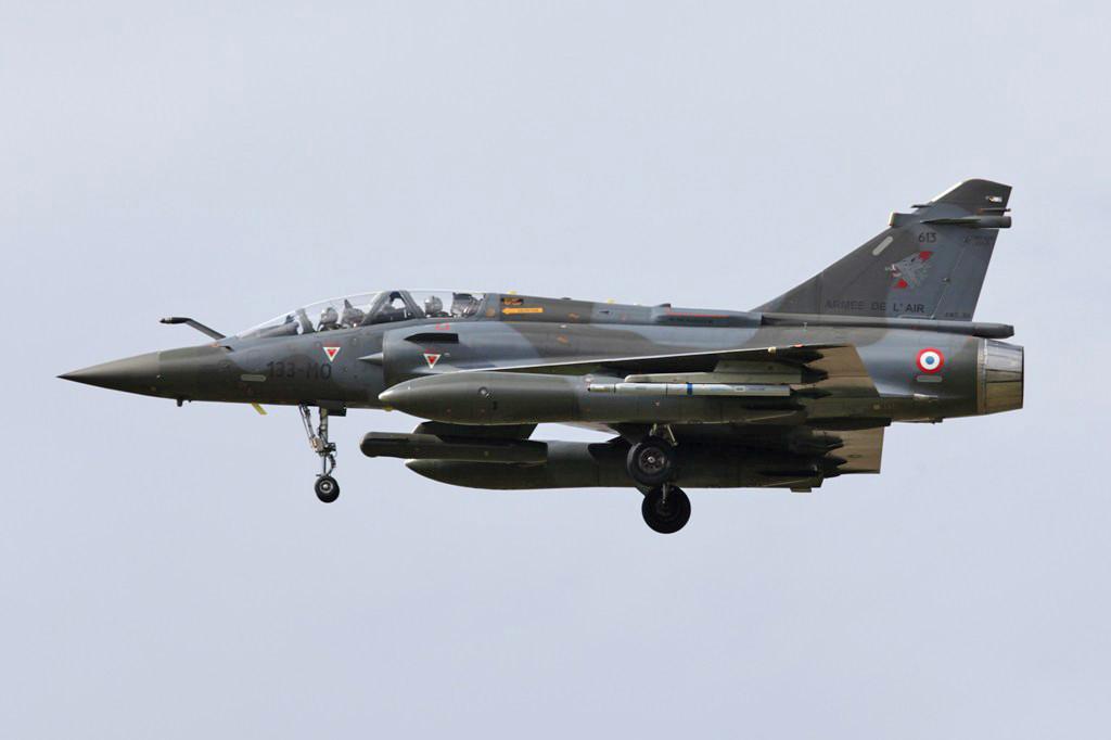 Mirage 2000D aus Nancy. Der markanteste Unterschied zur  2000N sind das fehlende Staurohr in der Nase und das selbige nicht schwarz ist.