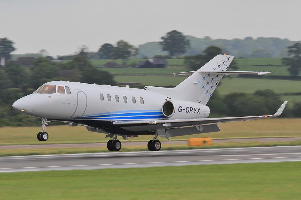 G-ORYX, Hawker 900XP der Oryx Jet aus Biggin Hill