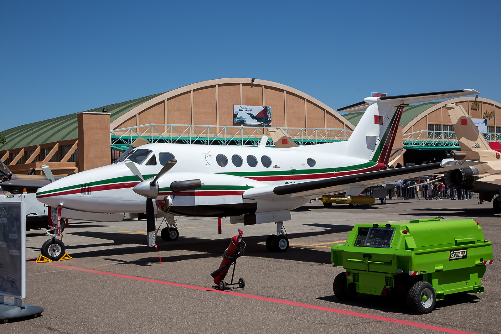 Beech King Air A100 vom Centre d´Instruction de Pilotes Transports in Kenitra.
