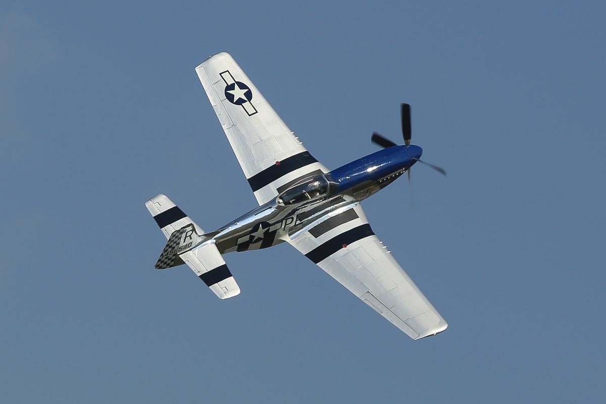 P-51 Mustang bei ihrer Vorführung.