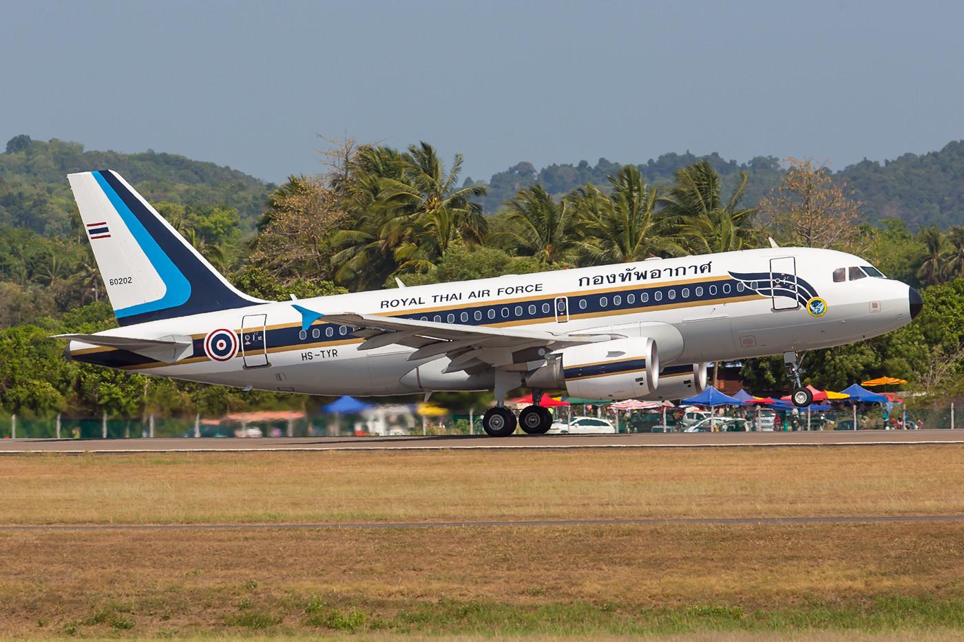 Die RTAF kam mehrfach mit diesem A-319, der auf Bangkoks altem Flughafen Don Muang stationiert ist.