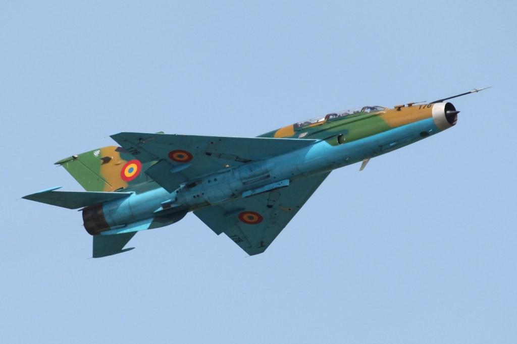 Die Rumänische Luftwaffe zeigte ein Display mit der MIG 21