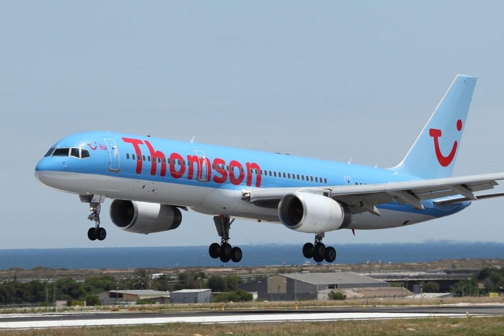 Eine weitere Thomson Boeing 757.