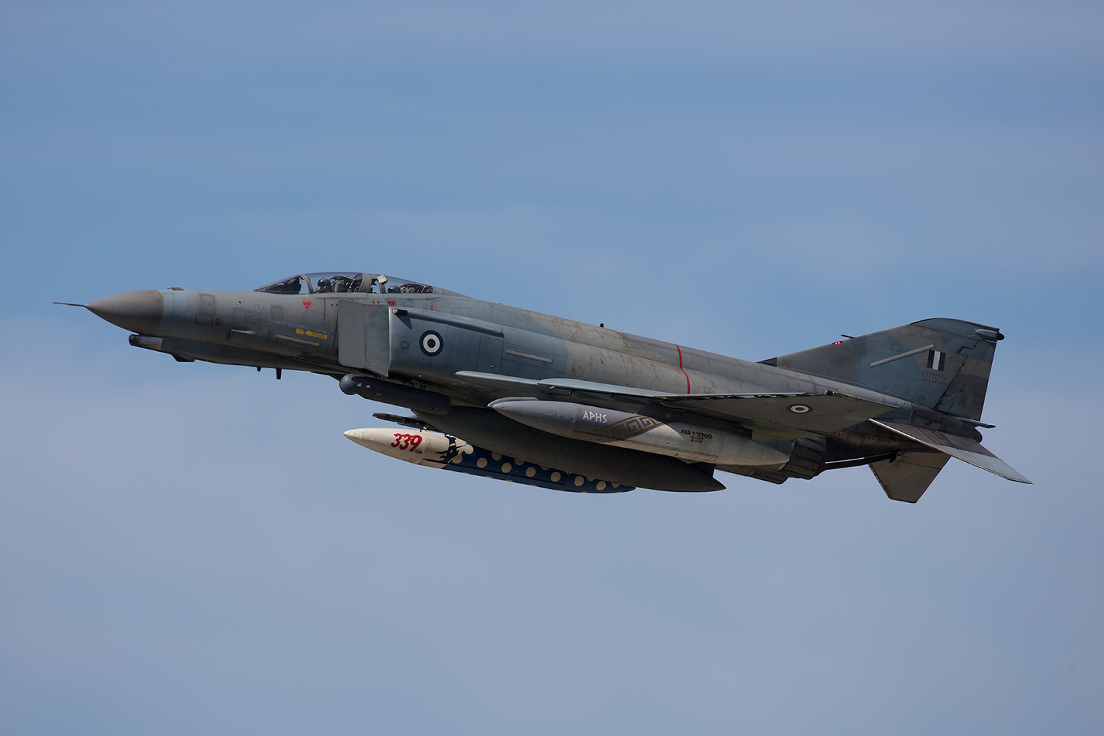 01512, McDonnell Douglas F-4E (AUP) Phantomm II der Hausherren aus Andravida.