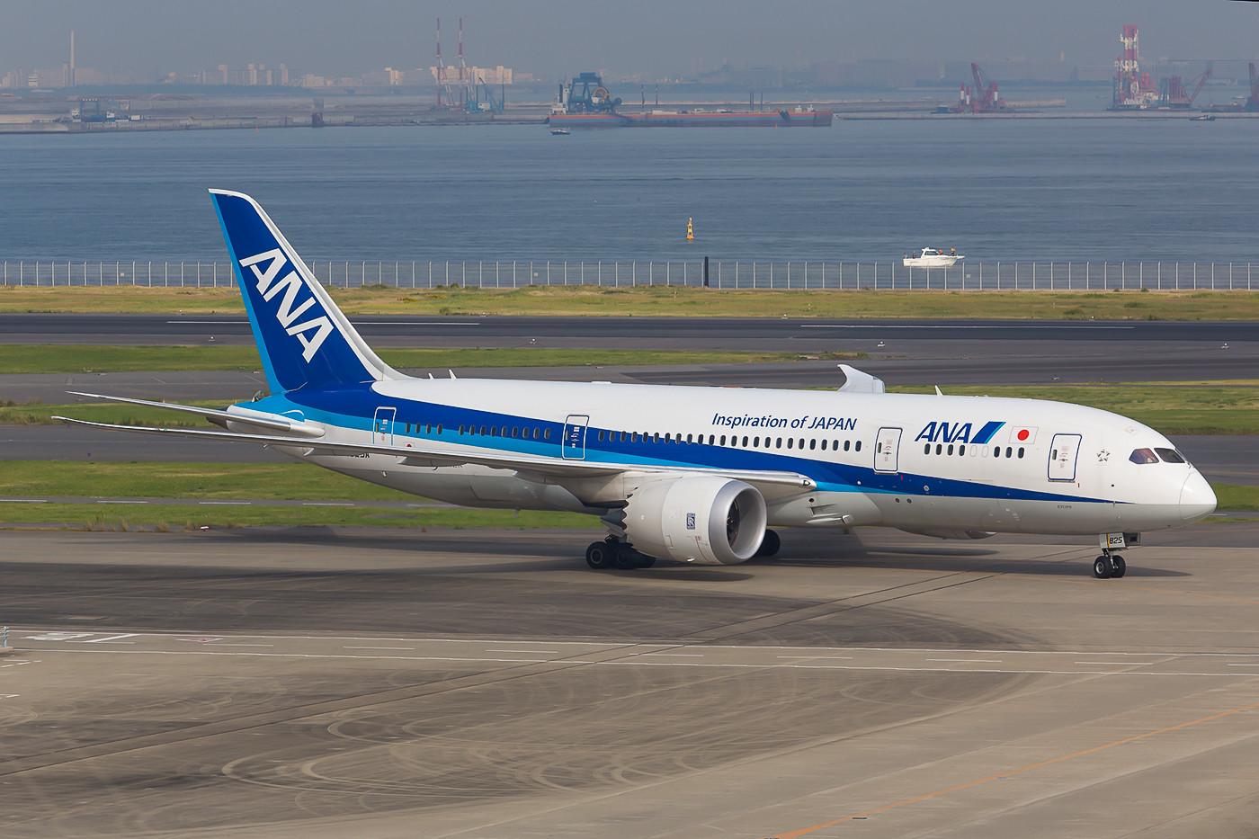 """Die neueren Dreamliner der ANA tragen nicht mehr der """"787""""-Schriftzug am Rumpf."""