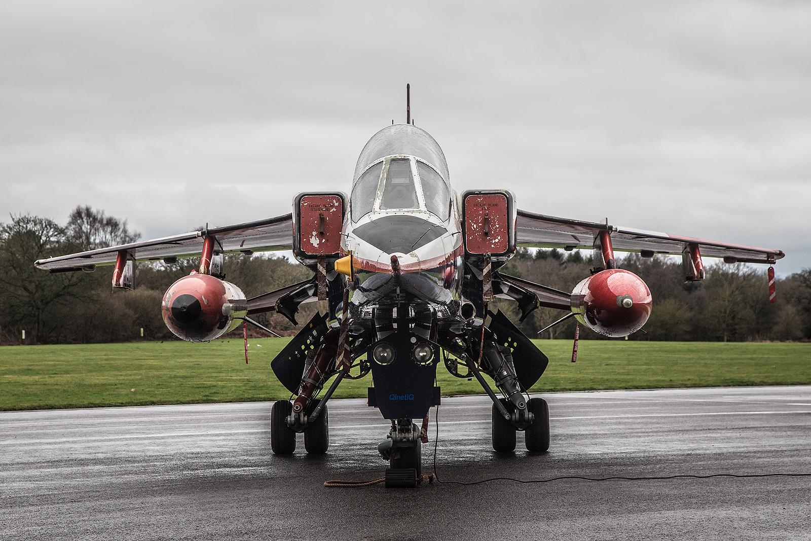 Einer der letzten Jaguare, der in England im Einsatzwar, war die ZB615. Er flog für die ETPS in Boscomb Down.