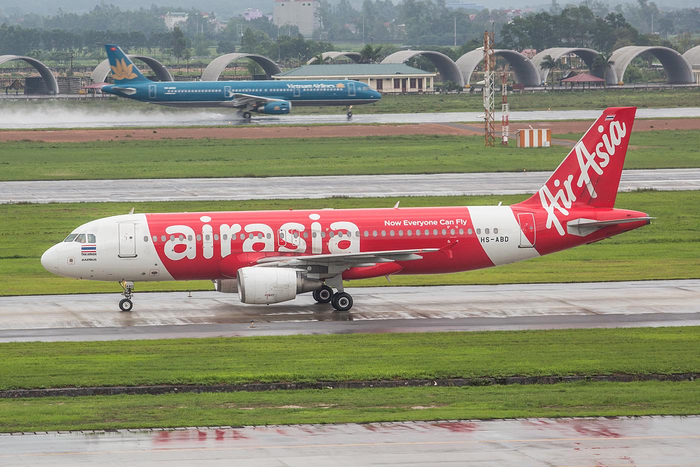 A320 der AirAsia, diesmal aus Thailand.