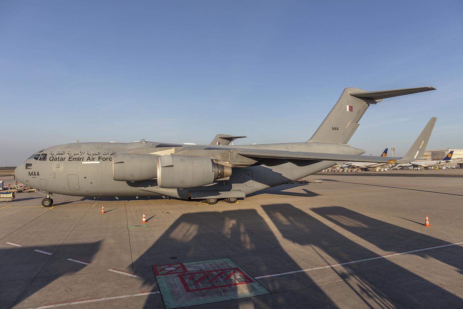 Eine Woche blieben die C-17 aus Katar in Frankfurt.
