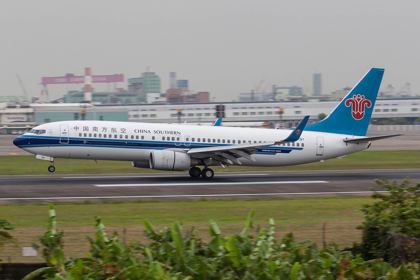 Boeing 737-800 der China Southern, der größten Airline in der VR China.