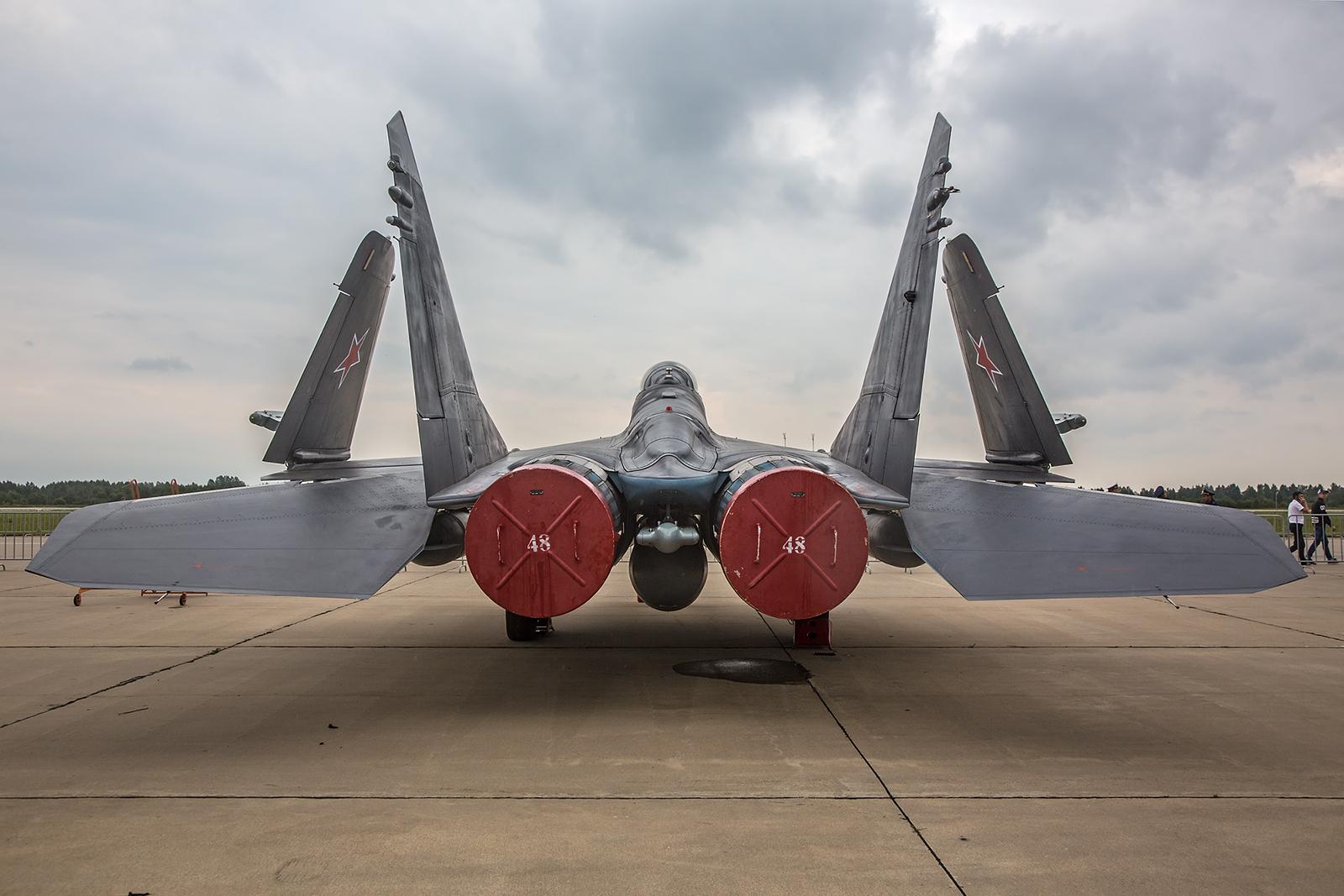Das Heck der MiG-29K der Marineflieger