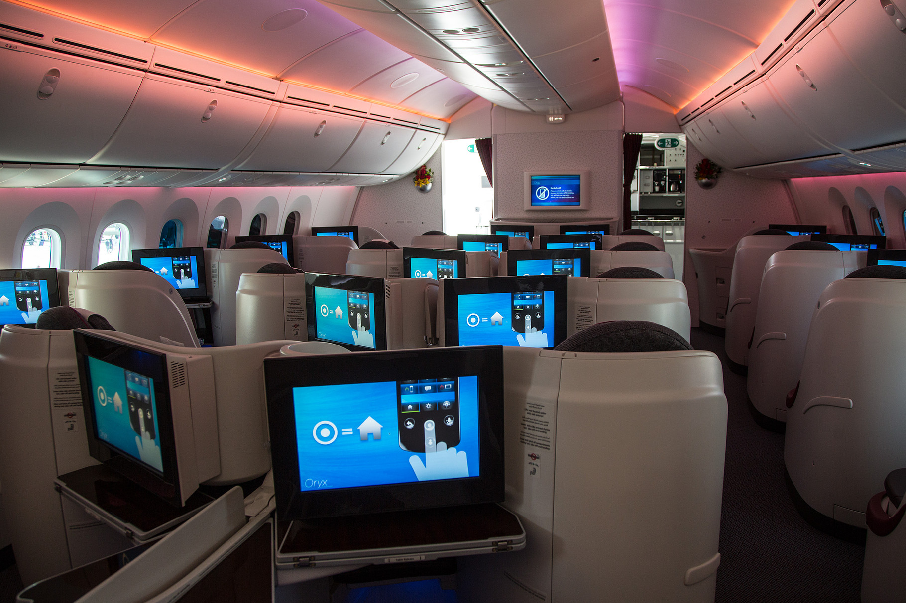 Die Business Class im Dreamliner.