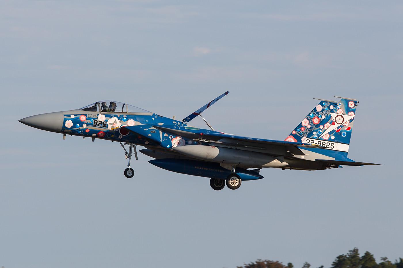 """Der wohl schönste """"Vogel"""" der JASDF 2014 gehört zur 305 Hikotai."""
