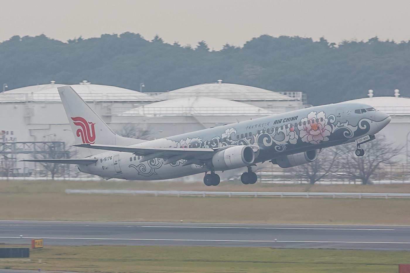 B-5176, Boeing 737-800 der Air China in einer sehr schönen Sonderlackierung.