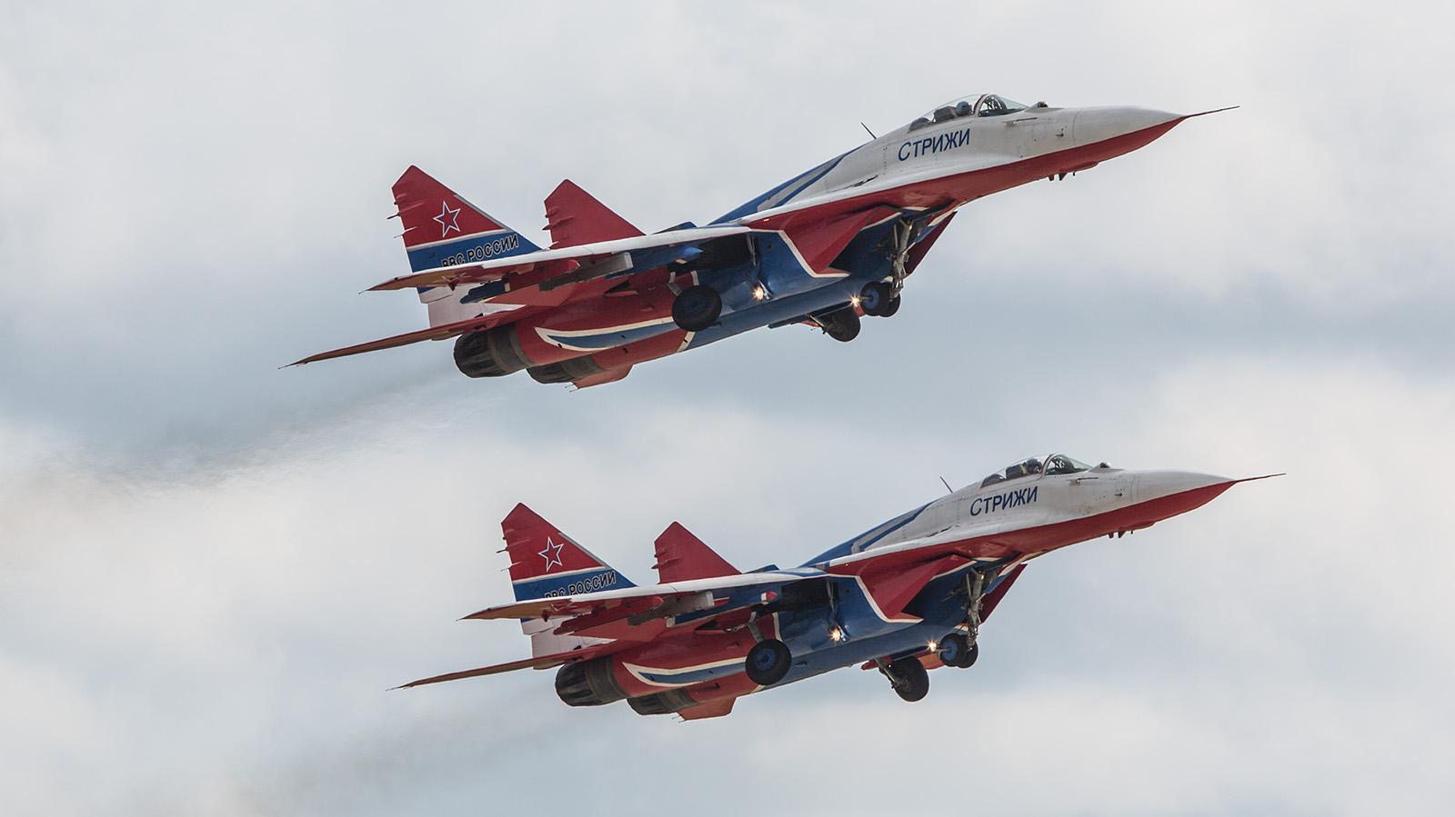 """Seit ihrer Gründung vor 26 Jahren fliegen die """"Swifts"""" die MiG-29."""