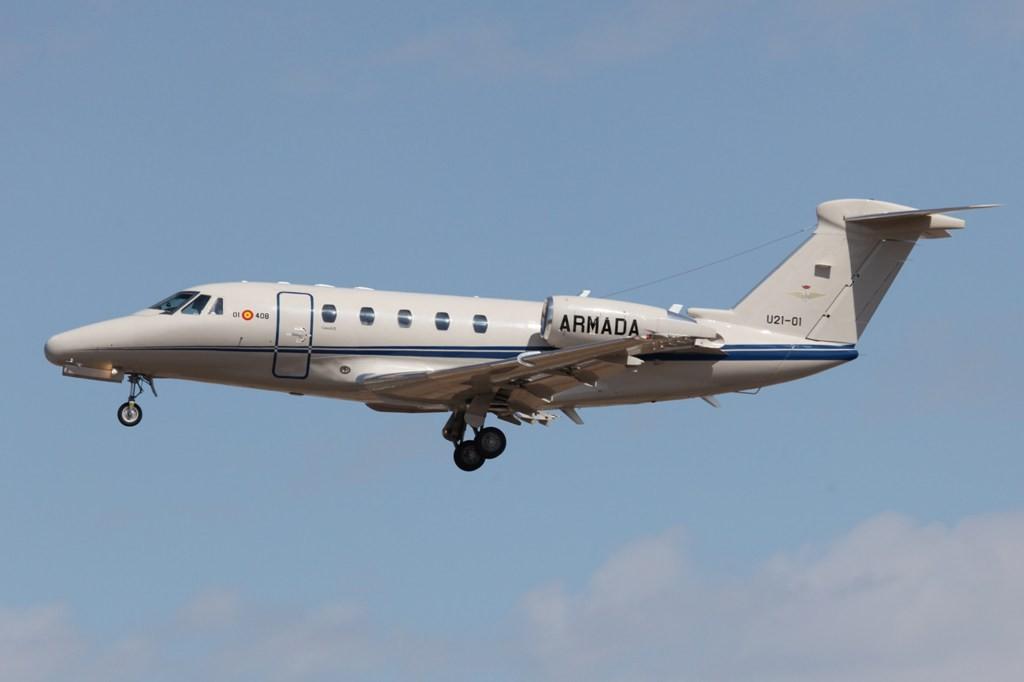 Die einzige Cessna 680 Citation der Armada, der Marine.