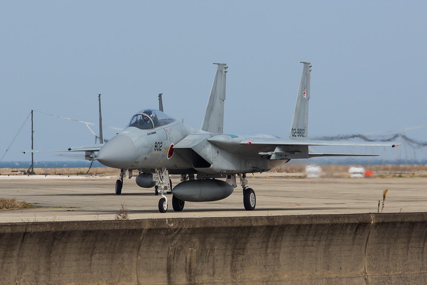 Zwei F-15 nach ihrer Mission.