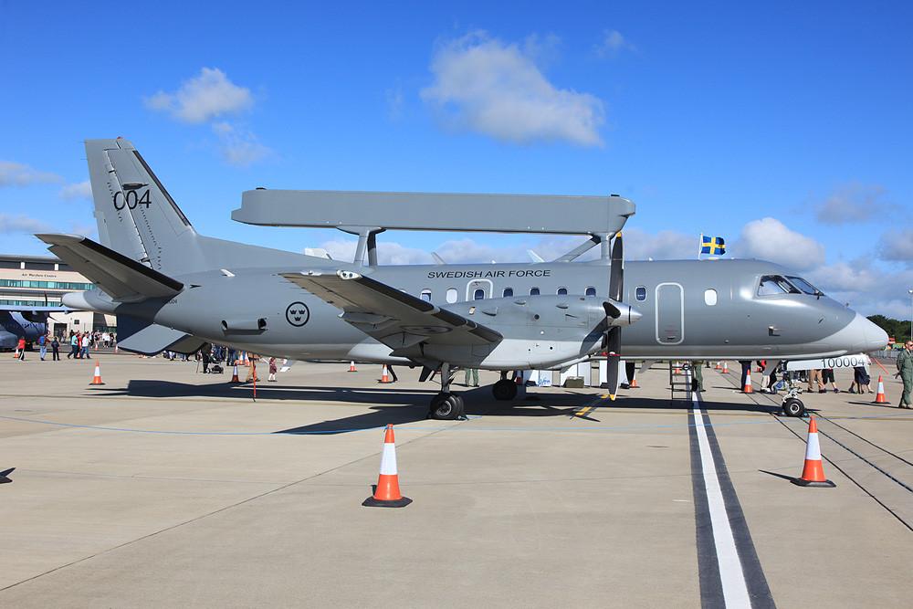 Die Saab S-100D Argus, ein Aufklärungsflugzeug der schwedischen Luftwaffe.