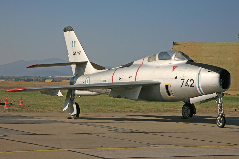 Die F-84 ist schon lange Geschichte,...