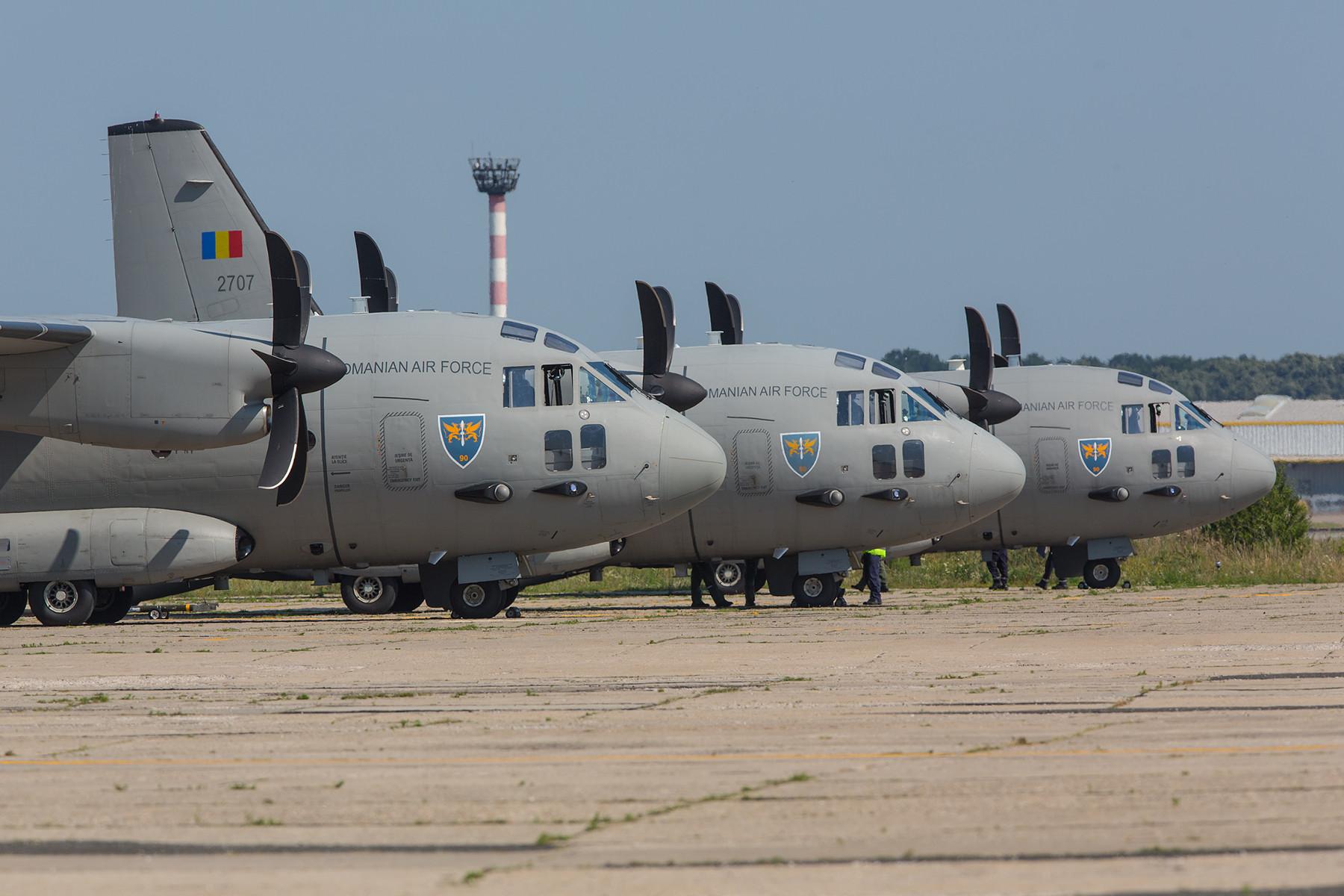 Drei der insgesamt sieben C-27J Spartan.