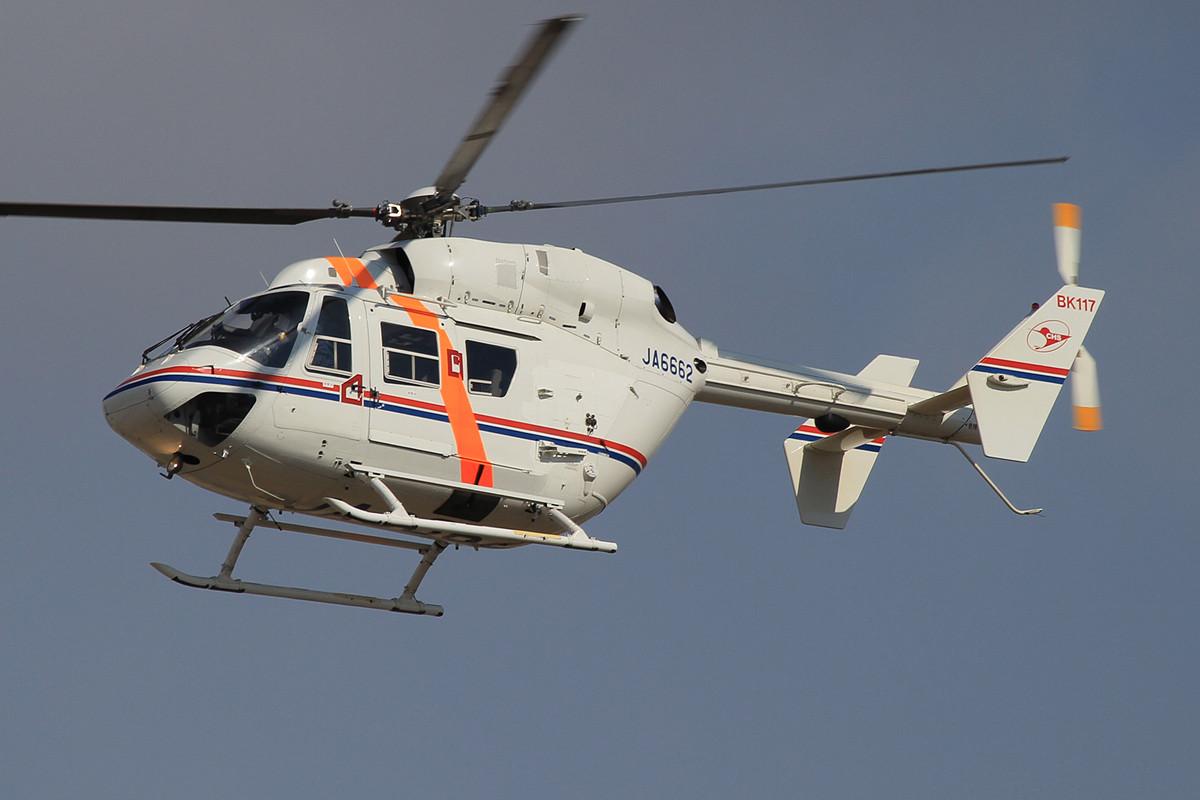Die BK 117 ist in Japan ein beliebter Rettungshubschrauber.