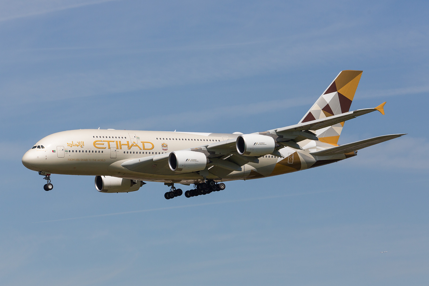 Zwei Mal täglich kommt Ethiad mit der A 380 aus Abu Dhabi.