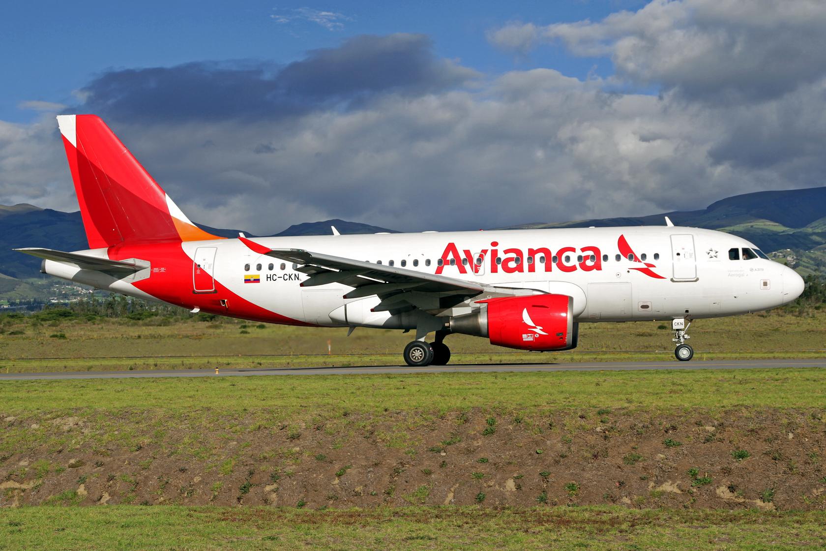 Avianca Ecuador Airbus A319-112 HC-CKN