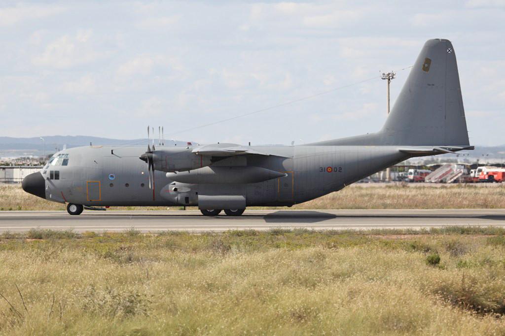 Eine C-130 Hercules aus Zaragoza