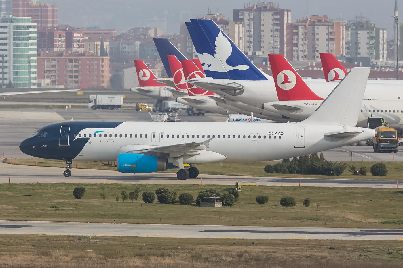 Ein besonderer Gast war dieser A320 von Tarco Air aus dem Sudan.