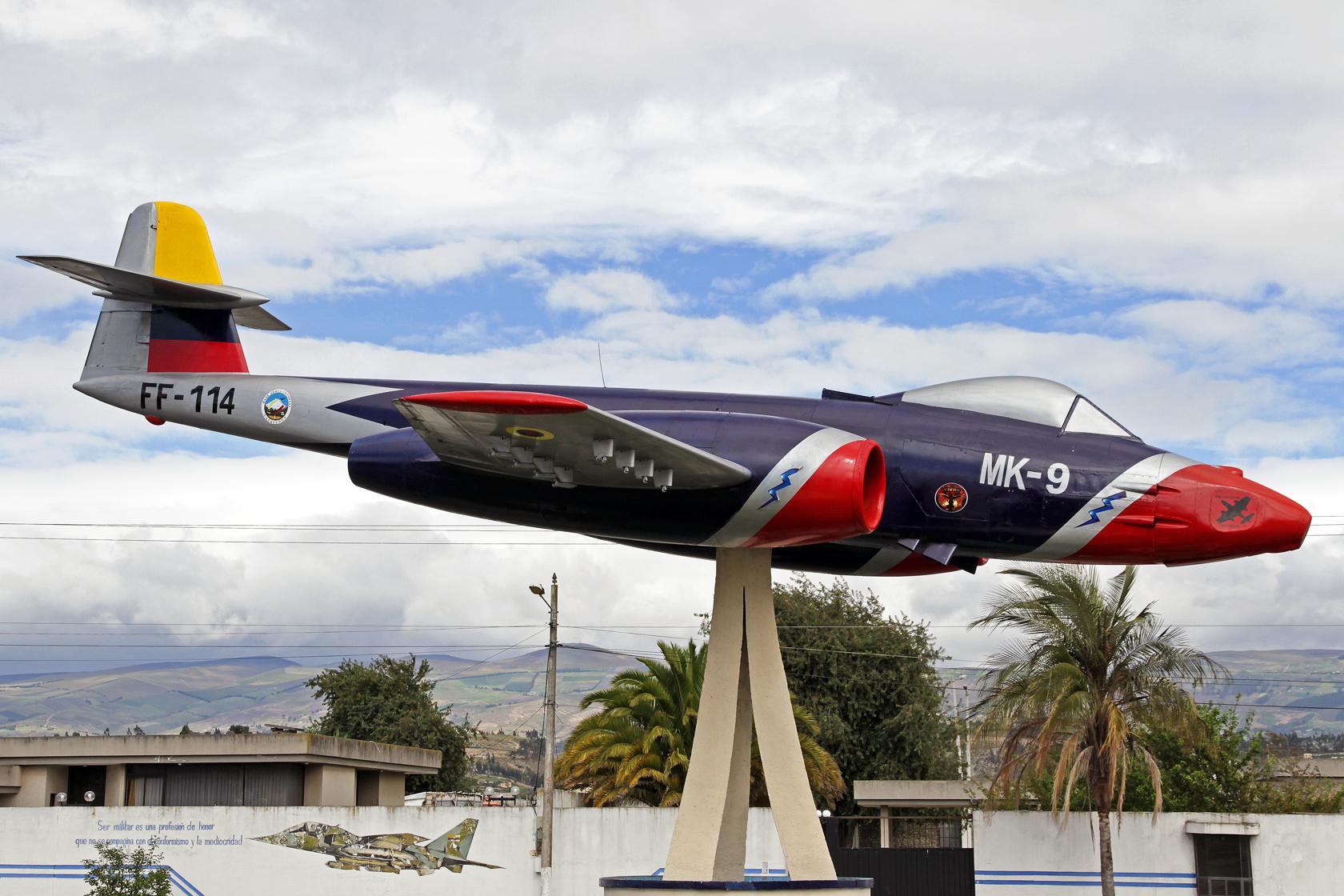 Fuerza Aérea Ecuatoriana Gloster Meteor FR.9 FF-114