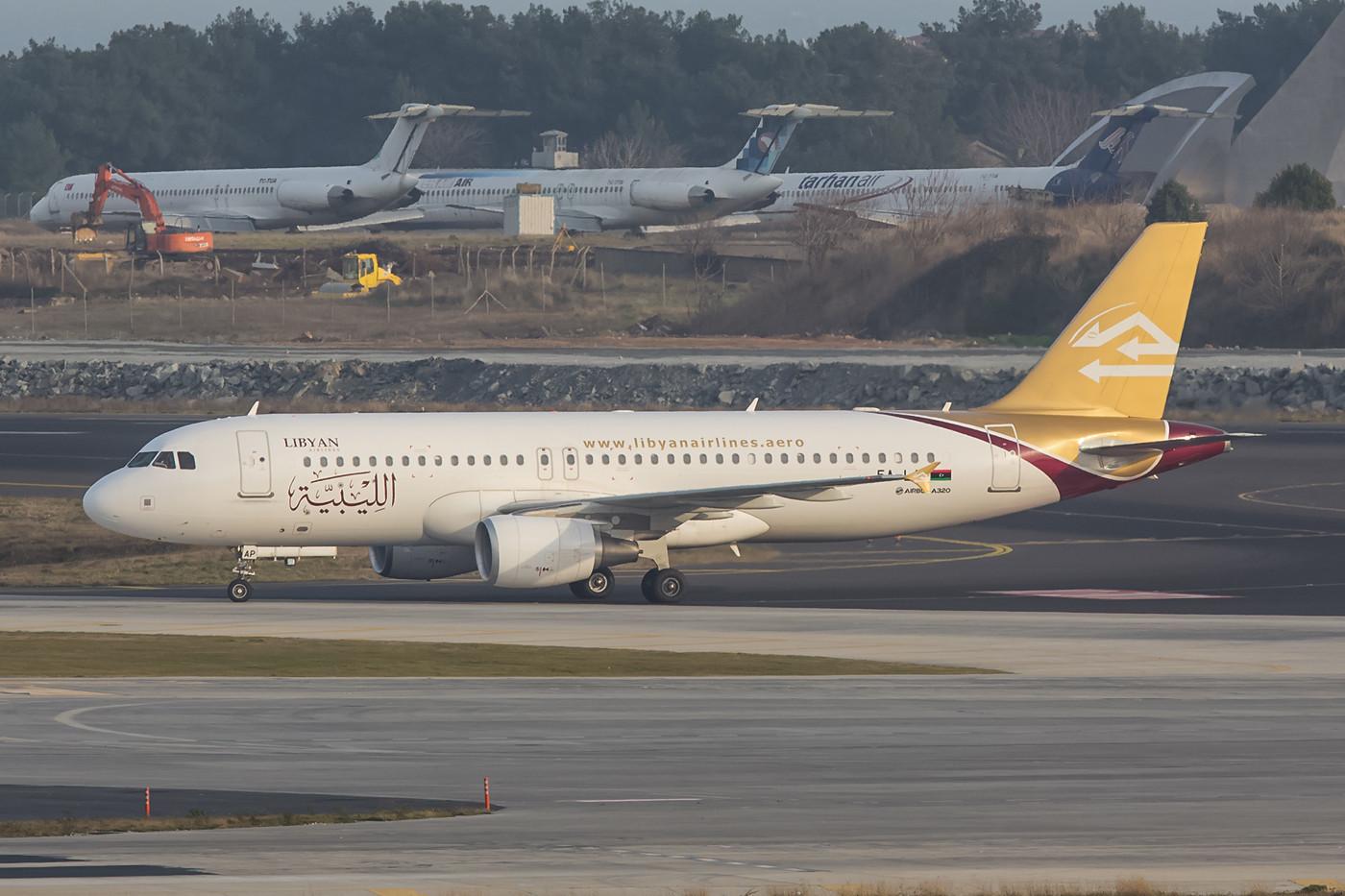 Die A320-Flotte wurde bei Libyan Arab komplett erneuert, da die alten Maschinen, die einst bei Ansett Australia flogen noch eine Dreimann-Crew benötigten.