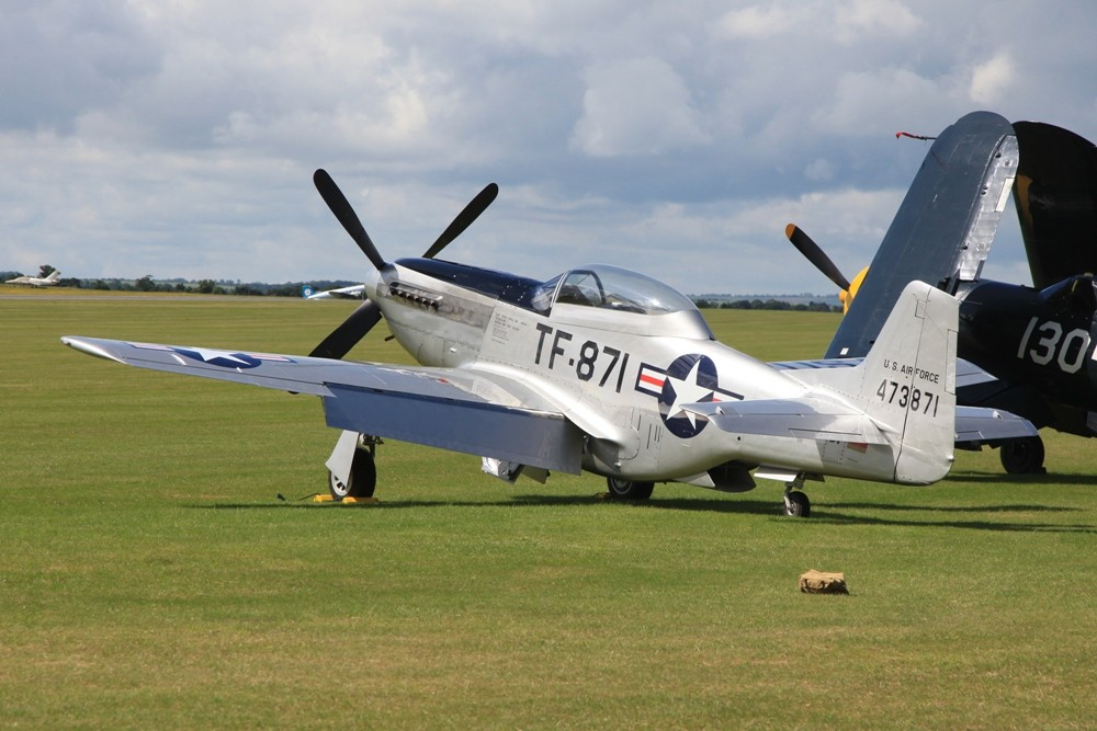 Die D-FTSI, eine P-51D Mustang.