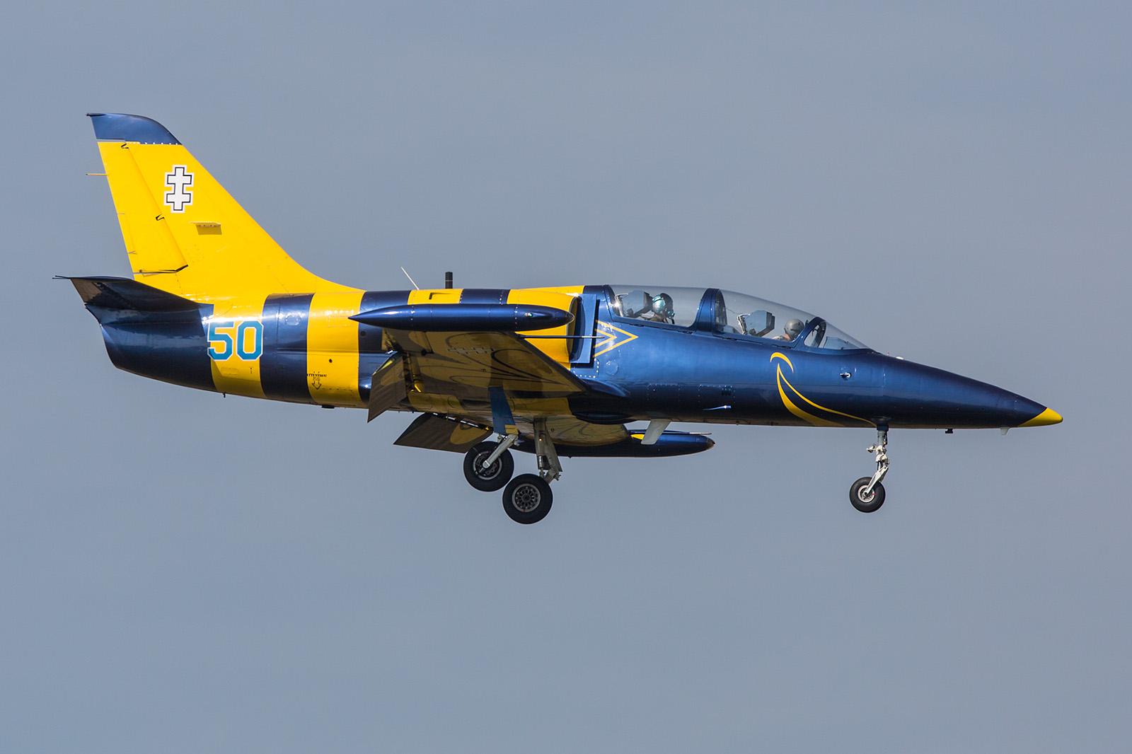 """In den Farben der """"Baltic Bees"""", eine L-39 der Luftwaffe Litauens."""