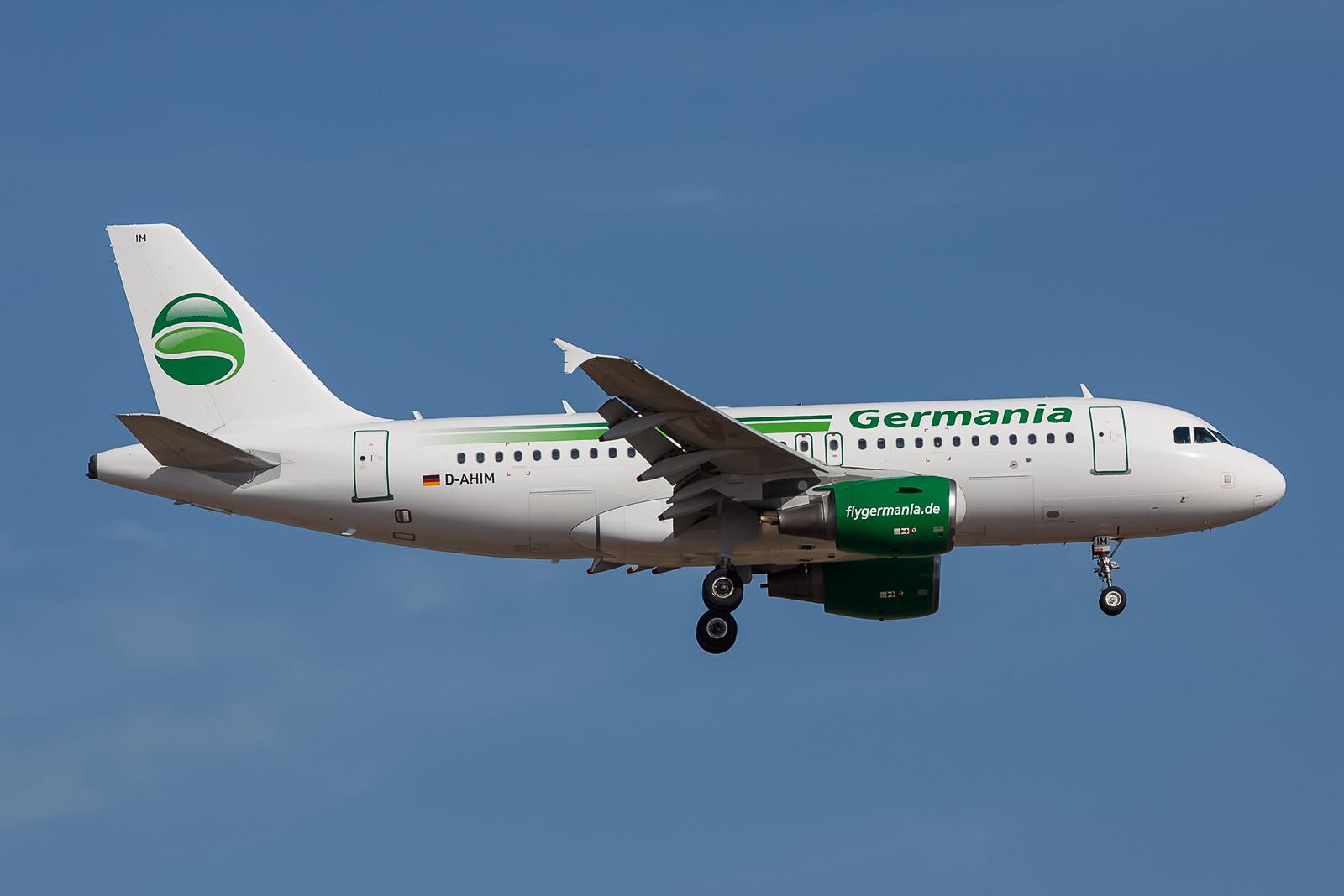 Die Wiederauferstehung der Marke Germania innerhalb der Air Berlin Gruppe fand nicht mehr mit Beoing 737, sondern mit Airbussen A319 statt.