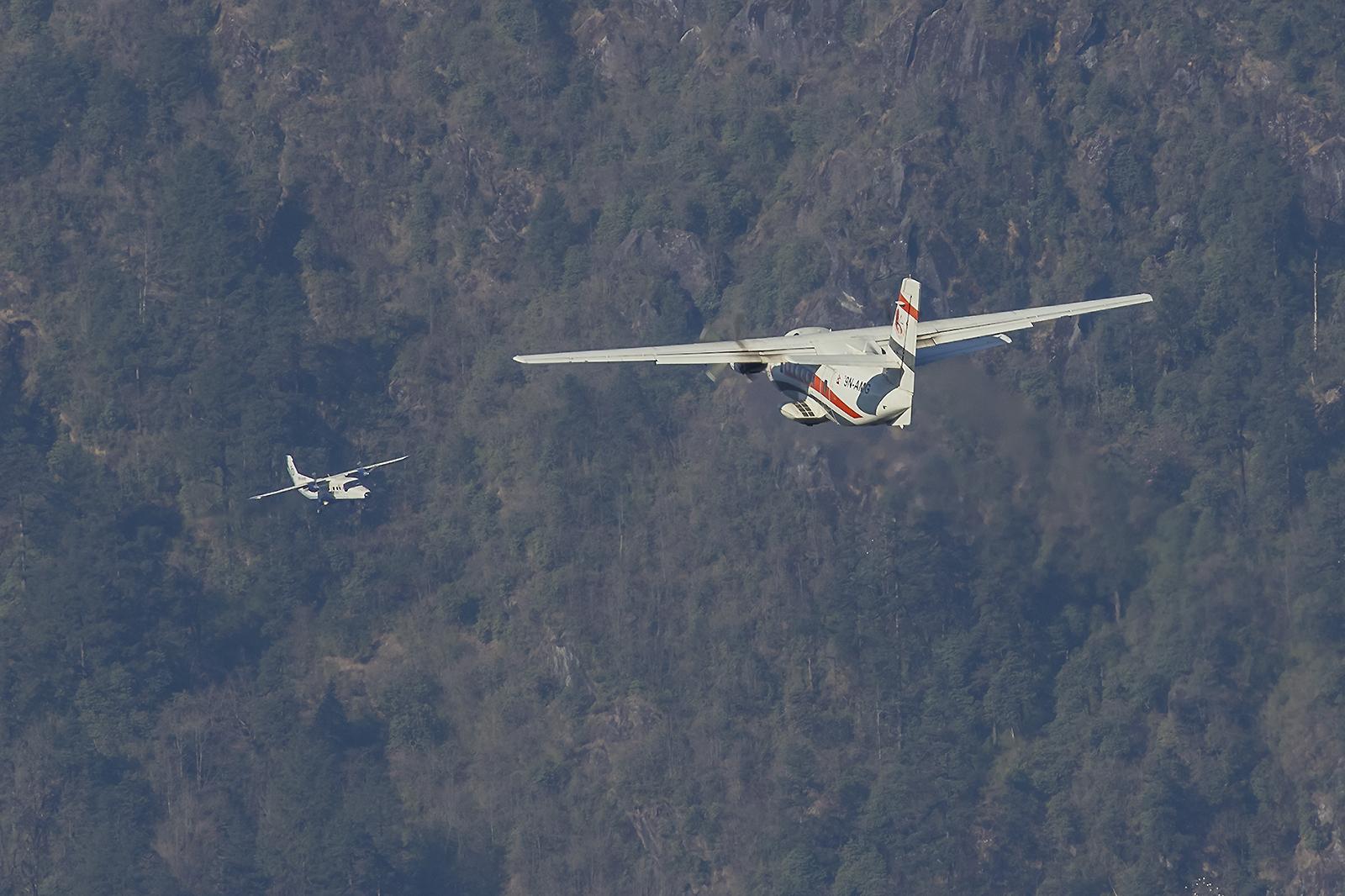 In Lukla wird ausschließlich auf Sicht geflogen.