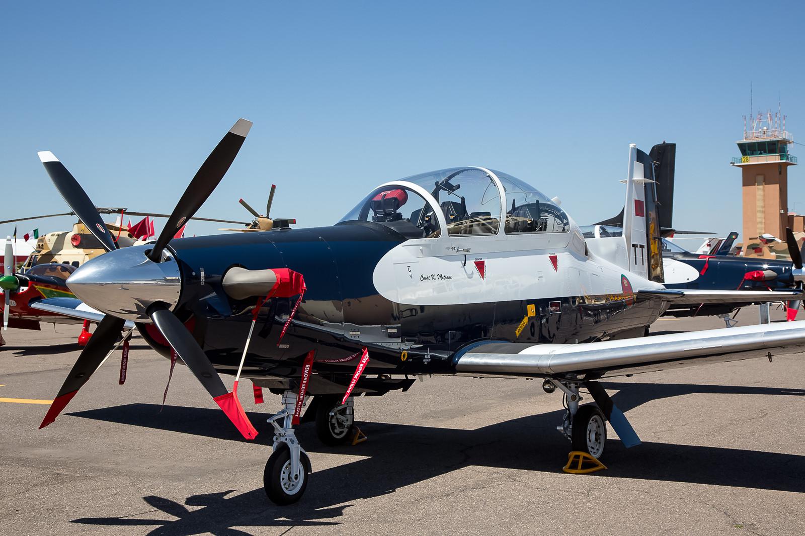 Die T-6G Texan, dient als Schulflugzeug in der Basisausbildung.