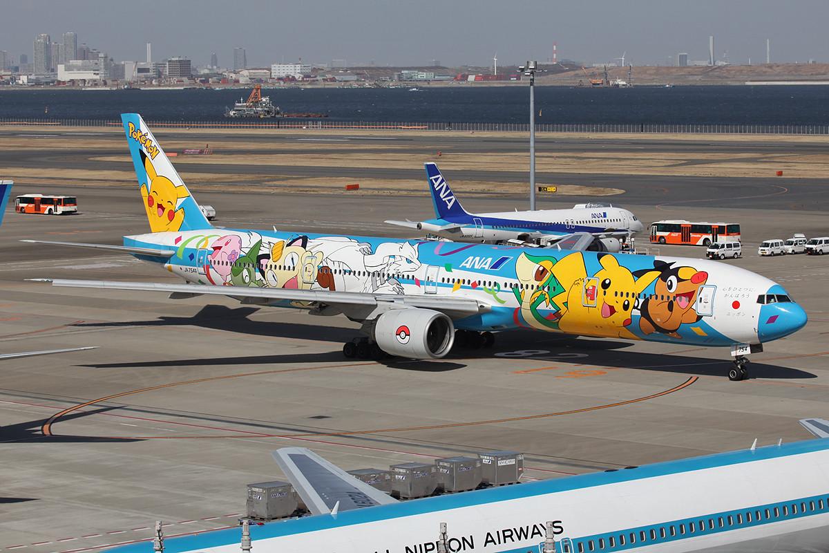 Auf dieser Boeing 777-300 haben die Pokemons ein neues Zuhause gefunden.