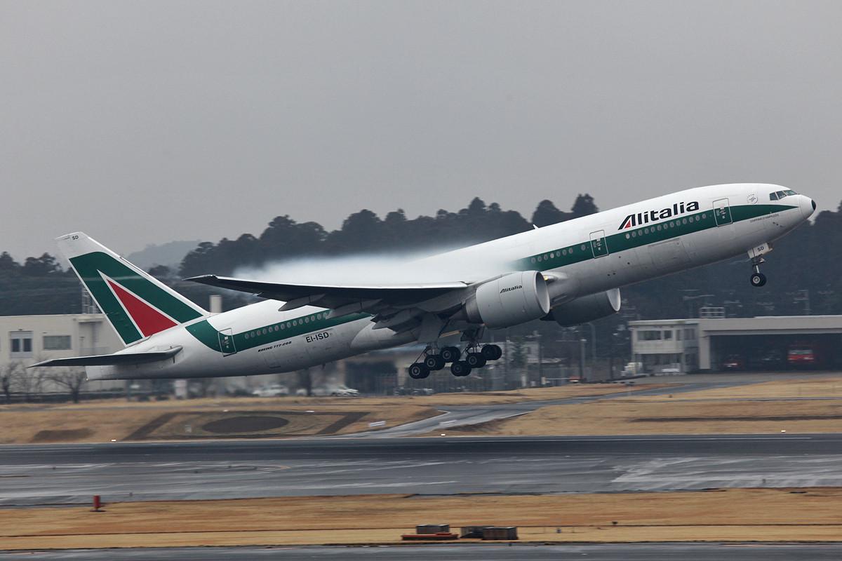 Nach dem Regen gab es ein paar nette Effekte wie hier an der Alitalia.
