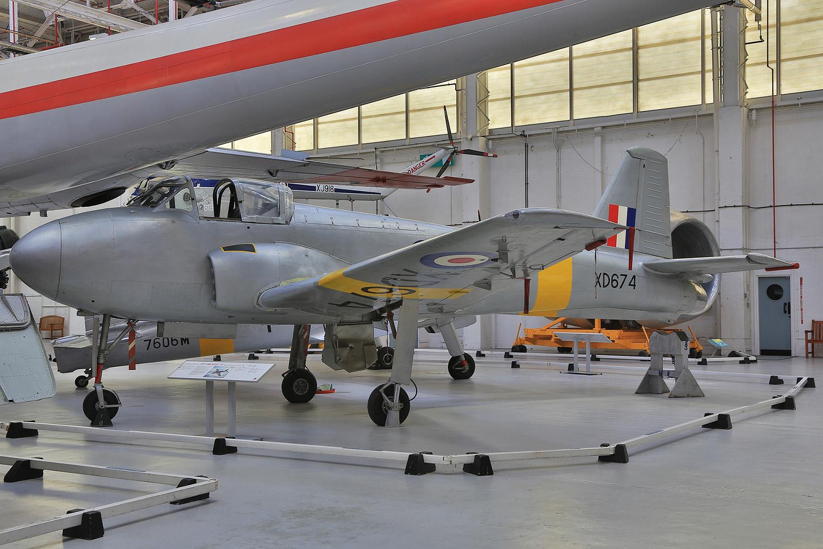 Die erste Variante der Hunting Percival Jet Provost sah noch ziemlich unförmig aus.