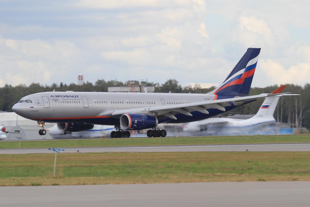Auf der Fernstrecke setzt Aeroflot in der Hauptsache auf den Airbus A 330.