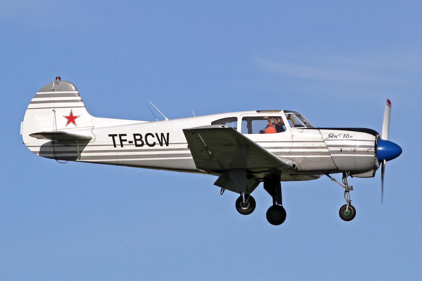 Flugklúbbur Alþýðu Yakovlev Yak-18T TF-BCW, RKV, 14. August 2020